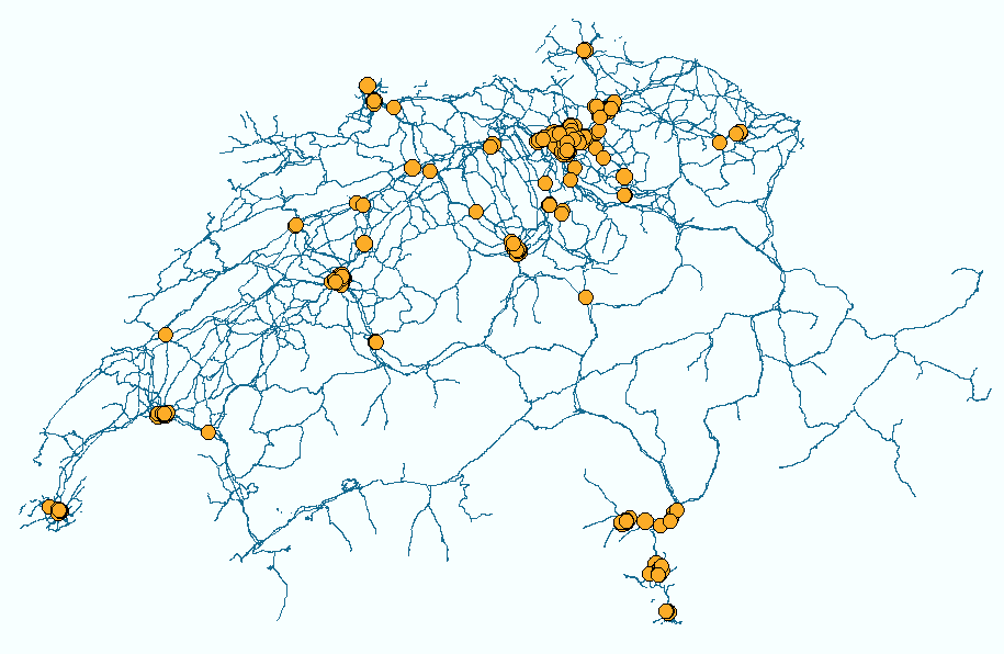 Unfallkarte der Schweiz